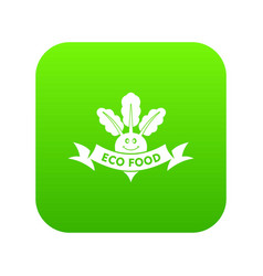 beet icon green vector image