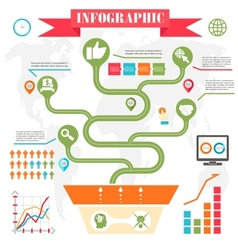 business steps development infographics vector image