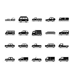 car model travel bus truck transport vehicle vector image
