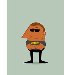 Cartoon Security man vector image