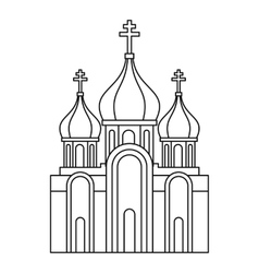 Christian church icon outline style vector