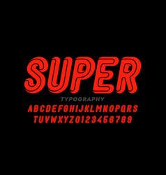 comic book superhero style font vector image