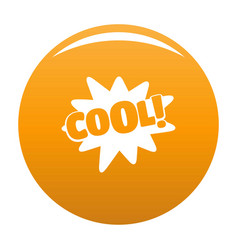 comic boom cool icon orange vector image