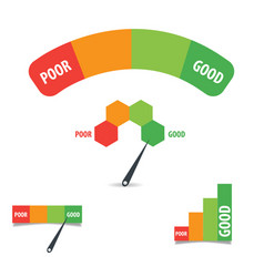 Credit score design template elements vector