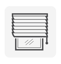 curtain blind icon vector image