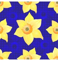 Daffodils on a Blue Background vector