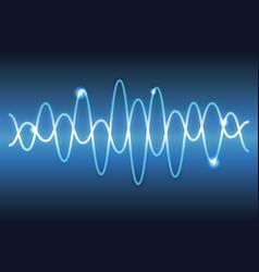 digital music waves vector image