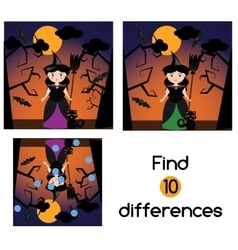 Find the differences educational children game vector