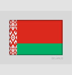 Flag of belarus national ensign aspect ratio 2 to vector