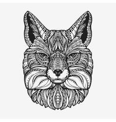 Fox Animal decorated with ethnic patterns vector image