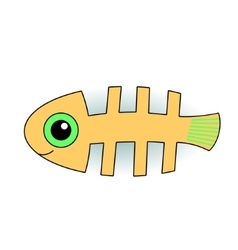 Funny fish-skeleton vector