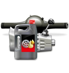 Gearbox with Transmission Oil vector image