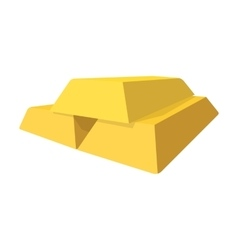 Gold bars cartoon icon vector