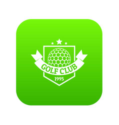 golf icon green vector image