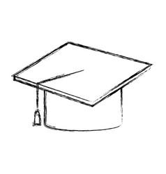 Graduation hat accessory degree celebration vector