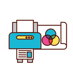 graphic design printer copy paper vector image