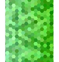Green color hexagon mosaic background design vector