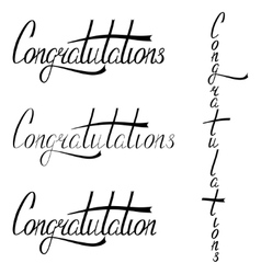 Hand drawn congratulations lettering vector