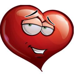 Heart Faces Romantic vector image