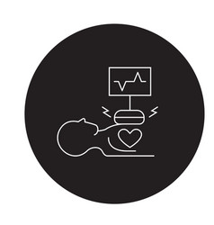 heart surgery black concept icon heart vector image