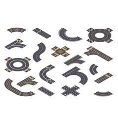 isometric design roadway parts vector image
