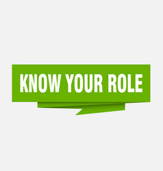 Know your role vector