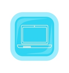 Laptop square icon vector