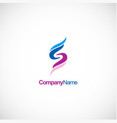 letter s business company logo vector image