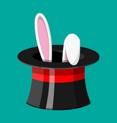 magic hat with easter bunny ears vector image