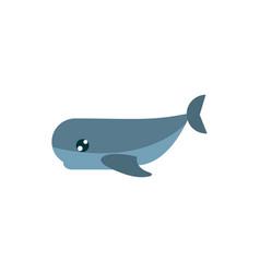 marine life whale cartoon sea fauna animal vector image