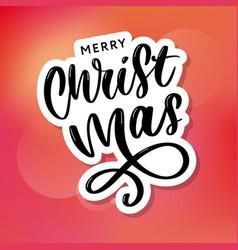 Merry christmas calligraphic inscription vector