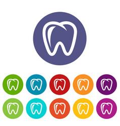 molar icon simple style vector image