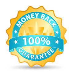 money back ribbon vector image