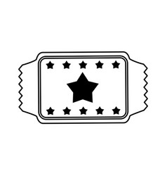 movie tickets icon image with stars vector image