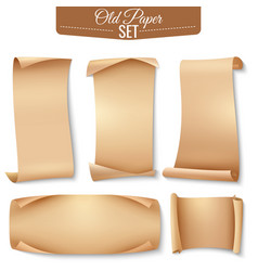 old paper banner icon set vector image