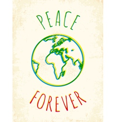 Peace forever vector