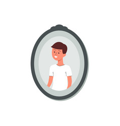 photography or snapshot cute little boy flat vector image