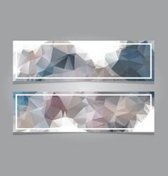 Polygonal banners template design vector