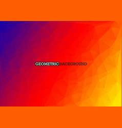 Polygonal red orange blue background rainbow vector