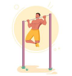 Pull-ups calisthenics bodyweight exercise vector