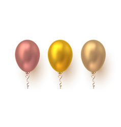 realistic 3d glossy balloons vector image