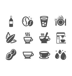 Set food and drink icons such as sunflower vector