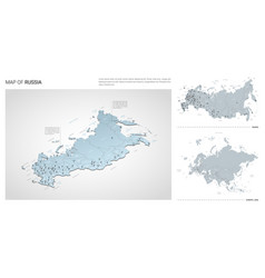 set russia country isometric 3d map russia map vector image