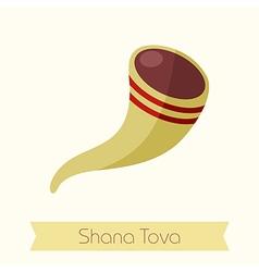 Shofar Rosh Hashanah icon Shana tova vector