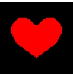 Sign pixel heart red flat 309 vector image