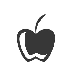 Silhouette fruit apple graphic icon vector