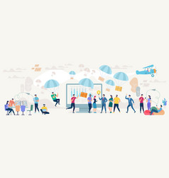 social network and teamwork concept vector image