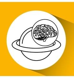 Solar system brain school knowledge vector