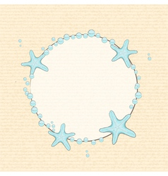 Starfish and bubble background vector