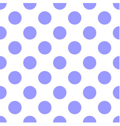 tile pattern with pastel violet polka dots on whit vector image